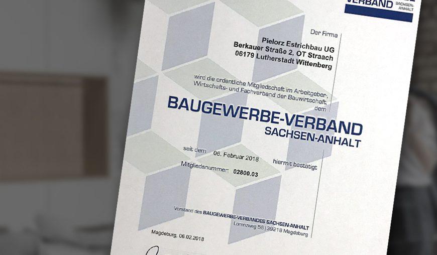 Mitglied im Baugewerbeverband Sachsen-Anhalt